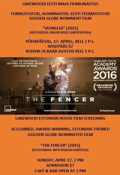 LEÜ FILMILINASTUS FENCER 2016